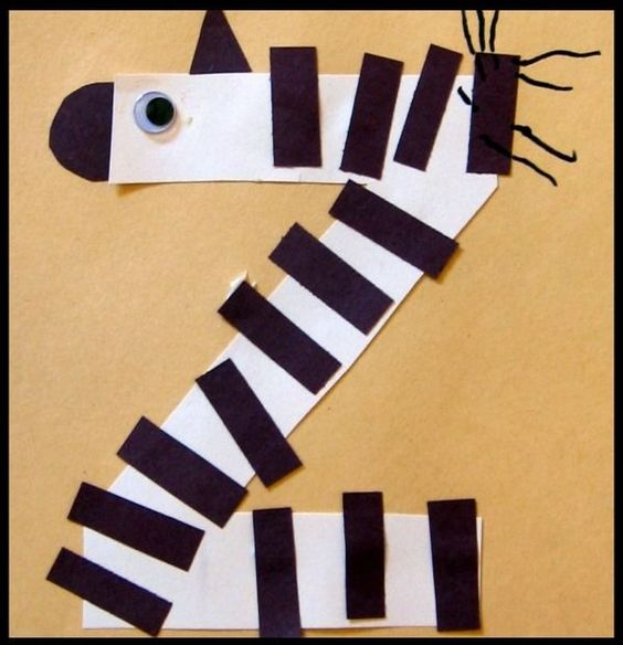Z Is For Zebra Letter Of The Week Preschool Craft