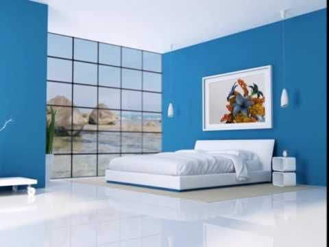 Small Bedroom Interior Designs Created To Enlargen Your Space Youtube Blue Bedroom Design Modern Bedroom Colors Blue Bedroom Colors