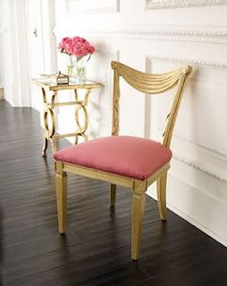 Pink & Gold Chair