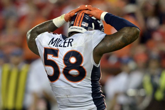 Trust us. Von Miller will be wearing only Orange and Blue on Sundays.  Remember who is leading this negotiation - John Elway.
