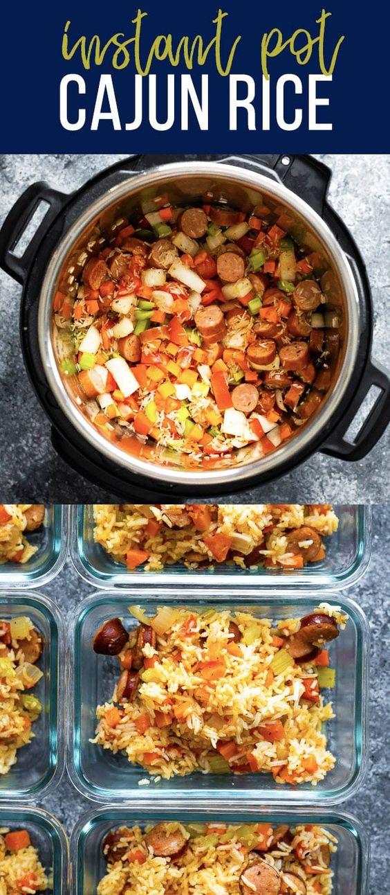 Instant Pot Cajun Rice and Sausage