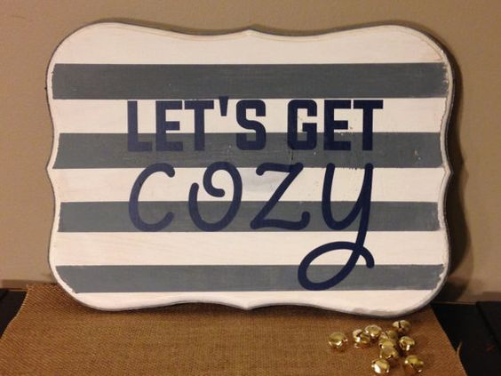 Let's Get Cozy wood sign by CreightonCreative on Etsy Follow @CreightonCreativeShop on instagram for special offers, holiday decor, winter decor, wall sign, wall art, gallery wall, seasonal signs