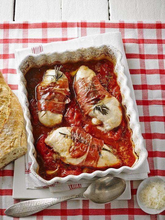 Brathähnchen mit Tomaten und Rosmarin