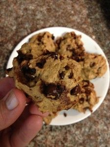Low Carb Flourless Peanut Butter Surprise Cookies - Just 6 ingredients and NO flour make these peanut butter chocolate chip cookies the perfect gluten-free low-carb snack.