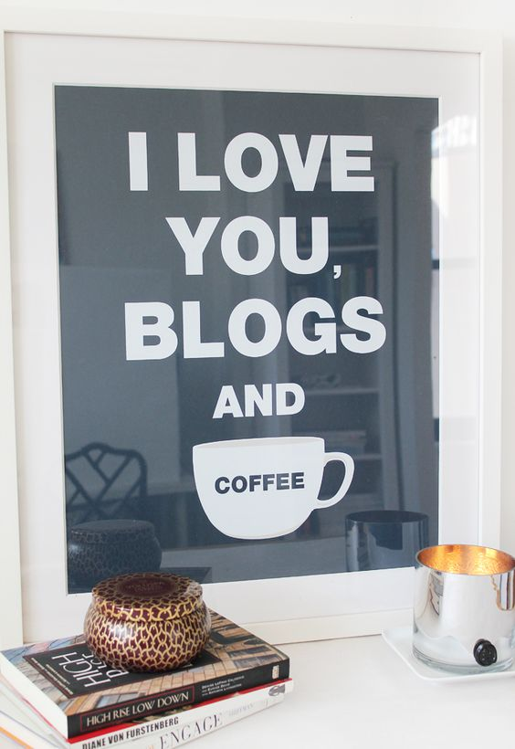BLOGS & COFFEE NAVY BLUE