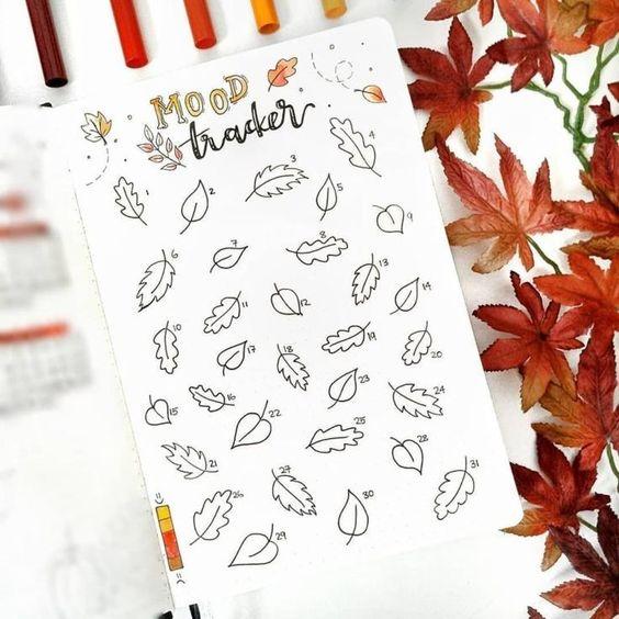 20 idées de Bullet Journal pour l'automne ! (page par @bujo.by.lara)