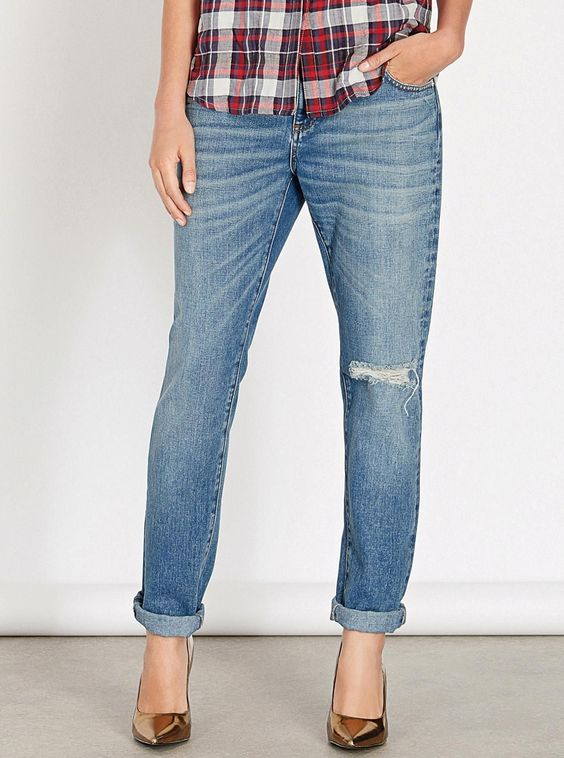 Warehouse Light Wash Girlfriend Jeans at Next