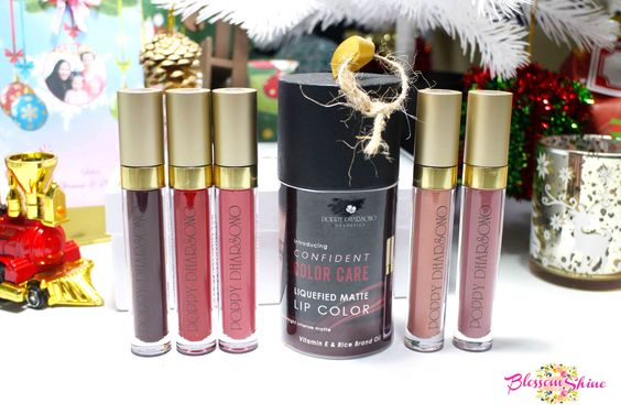 The Poppy Dharsono Liquefied Matte Lip Color Squad