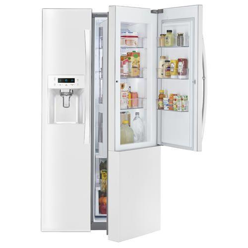 Kenmore Elite 51862 Counter Depth Side By Side Refrigerator W Grab N Go White Sears Kenmore Elite Side By Side Refrigerator Counter Depth