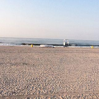 Beach at Atlantic City, NJ just off the boardwalk