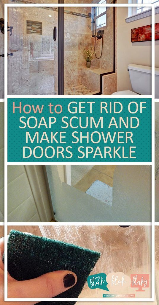 How To Get Rid Of Soap Scum And Make Shower Doors Sparkle Cleaning Cleaning Shower Doors Cleaning Hacks Home Clea Shower Doors Soap Scum Clean Shower Doors
