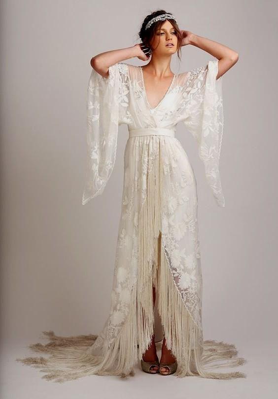 Hippie Style Wedding Dresses Ideas Fashion Trends 4656367 Jpg 564 811 Pixels Wedding Wedding Dresses Hippie Trendy Dresses Hippie Dresses