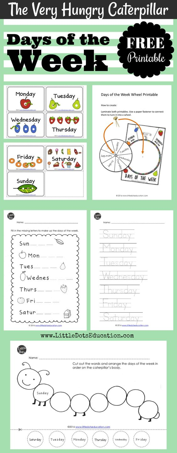 The Very Hungry Caterpillar Theme Free Days Of The Week Printables An Hungry Caterpillar Activities The Very Hungry Caterpillar Activities Very Hungry Caterpillar [ 1439 x 564 Pixel ]