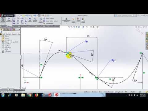How To Use Spline In Solidworks Youtube Solidworks Chart