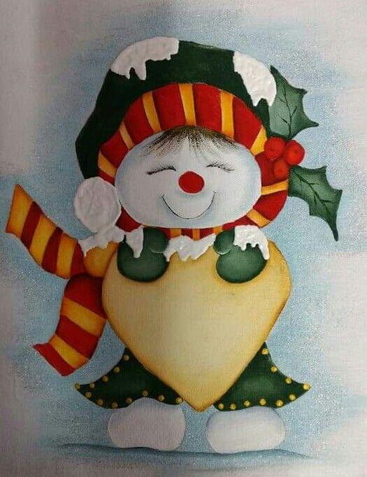 Pin De Adela Em Munecos Desenho De Natal Pintura De Natal