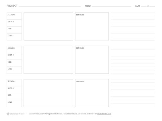 Download These  Storyboard Templates For Free From Studiobinder