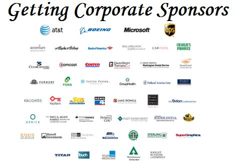 10 tips on getting corporate sponsors for your fundraising event. Article explains how to find sponsorships by seeking companies with both an affinity for your cause, plus a synergy with your event. Use a written business proposal showing what's in it for them.