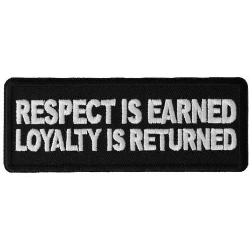 Embroidered Loyalty and Respect Sew or Iron on Patch Biker Patch