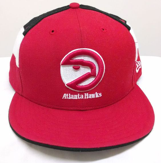 Atlanta Hawks Hardwood Classics New Era 59Fifty Throwback Fitted Hat Size 7 3/4 #NewEra #AtlantaHawks