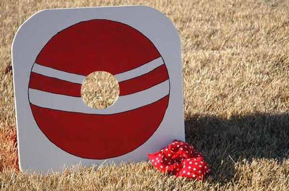bean bag toss: Party Games, Ball Birthday Parties, Mostess Classic, Classic Red, Bag Toss Game, Bean Bags, Party Ideas, Birthday Ideas, Birthday Party