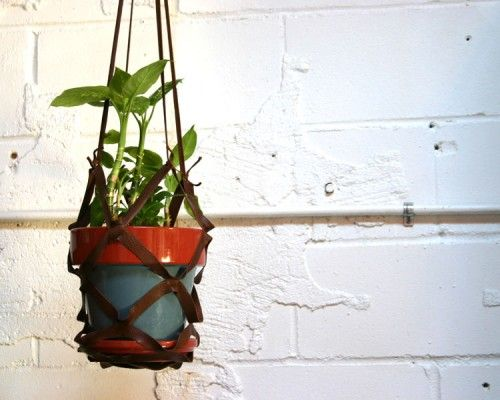 TGI Spring: DIY Leather Plant Hanger
