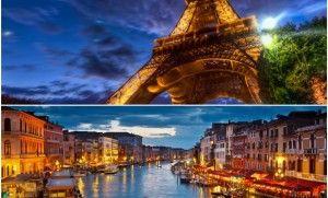 { lua de mel } Paris ou Veneza?