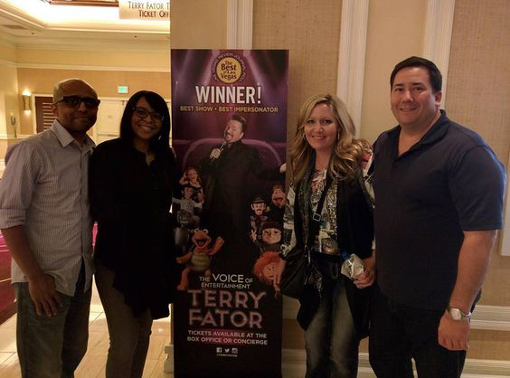 With some friends at the #TerryFator show wrapping up an amazing week in  Vegas with amazing friends!