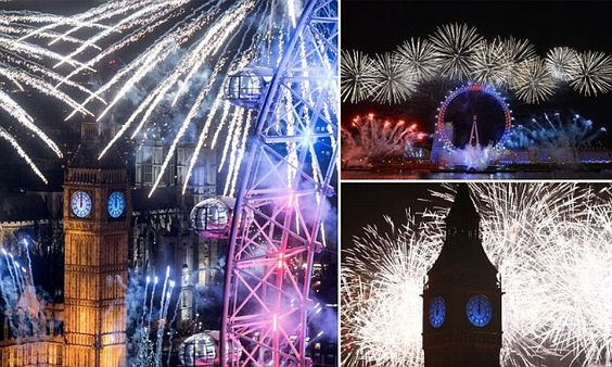 The UK welcomes in New Year's Eve 2016 with 12,000 fireworks in London