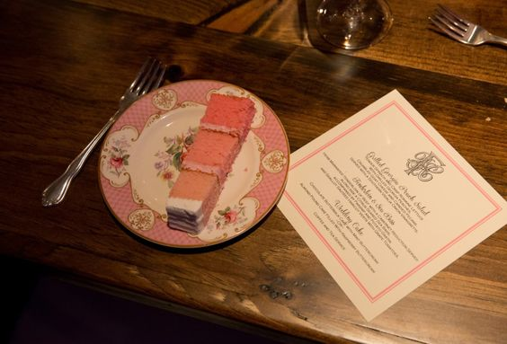 Ombré cake delicous and beautiful on a vintage pink plate vintageenglishteacup