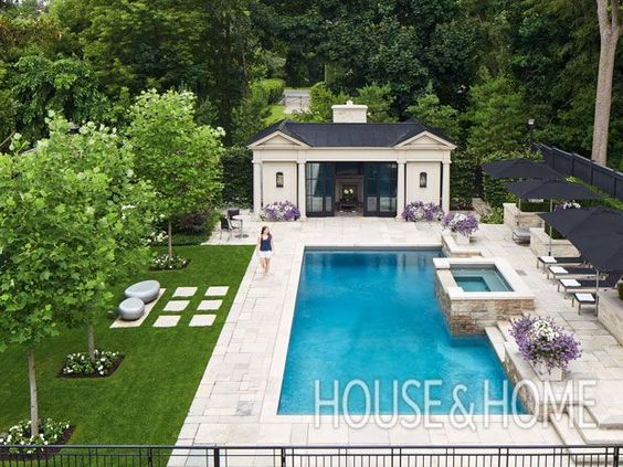 How To Create A Luxurious Escape In Your Own Backyard Pools Backyard Inground Swimming Pools Backyard Pool Houses