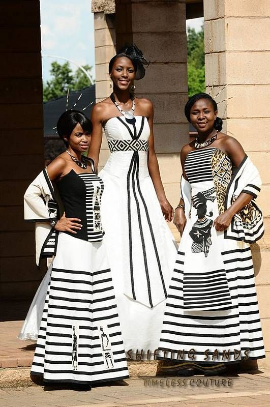 Shifting Sands African Couture Xhosa Inspired White And