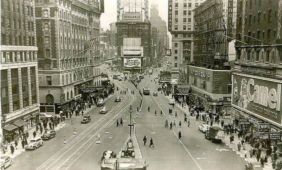 Times Square in the 1930s