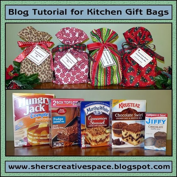 Tutorial - Kitchen Gift Bags #tutorial #diy #christmas: