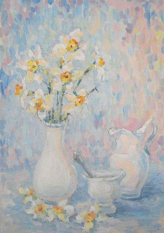 Daffodils Spring elegy.Daffodils Custom Still Life by FrozenLife