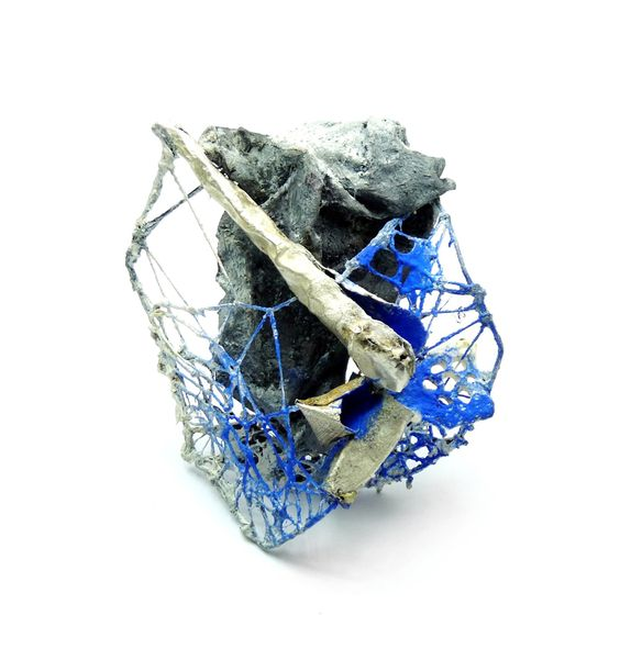 Akis Goumas Brooch: Untitled Silver, steel, pvc, threads, pigment.: