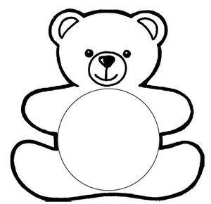 Best Photos Of Bear Template Printable Teddy Bear Stencil