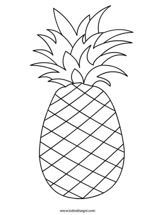 Ananas Coloring Pages Pinterest