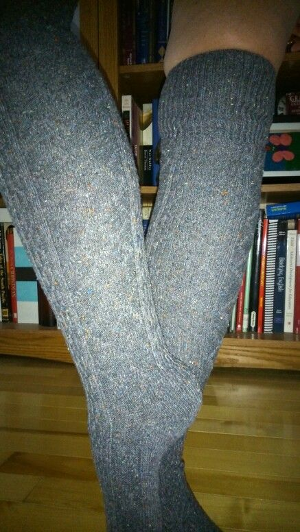 My wooly thigh highs for frosty mornings