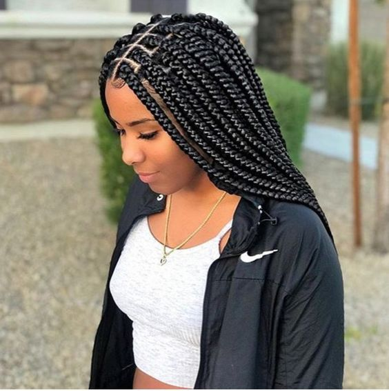 Protective Styles For Type 4 Natural Hair Hair Styles Braids For Black Hair Box Braids Hairstyles