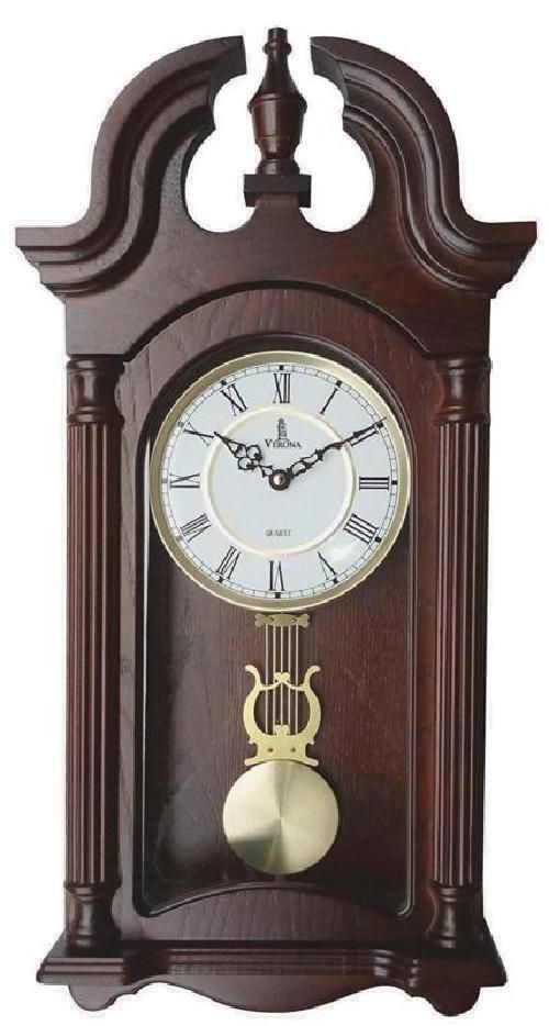 Vintage Wall Clock Antique Style Swinging Pendulum Wood Clock Silent Home Decor Pendulum Wall Clock Wall Clock Vintage Wall Clock