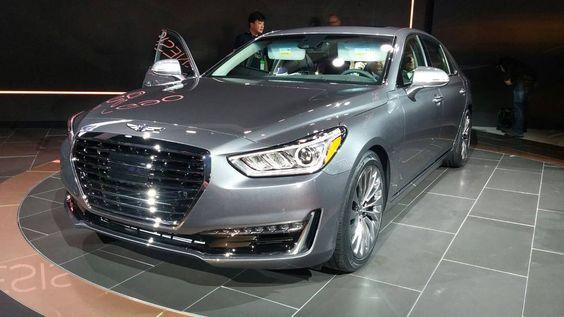 """""""Salão de Detroit: G90 é o primeiro modelo da Genesis, a nova marca de luxo da Hyundai."""""""