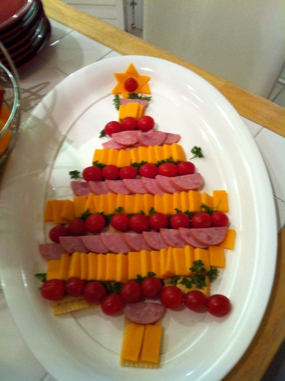 Trees christmas trees and christmas on pinterest - Christmas tree shaped appetizers ...