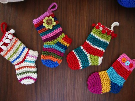 Little Christmas Socks by Sucrette!  She has many great patterns --- check her Ravelry Page & her website too!