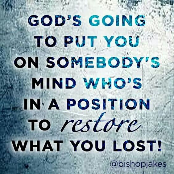 Bishop TD Jakes quote. Joel 2:25. #Restoration