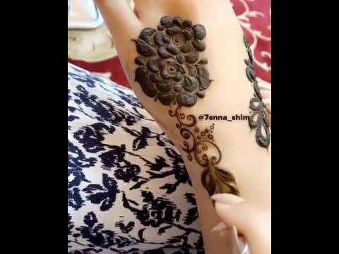 نقش حناء ورد Youtube Mehndi Designs Henna Mehndi