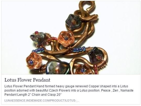 Lotus Flower Pendant http://t.co/qIMr3G3Vv8 via @sharethis   https://www.facebook.com/lunaessence/posts/10206355517939404