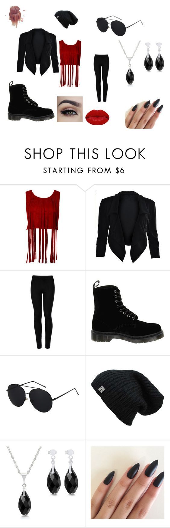 """Untitled #22"" by kristen-cooley on Polyvore featuring Wolford, Dr. Martens and Winky Lux"