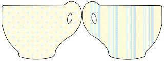 Fundo Amarelo e Azul Bebê - Kit Completo com molduras para convites, rótulos…