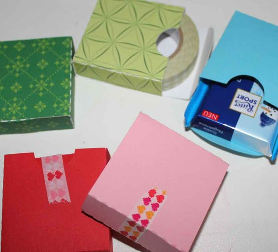 FREE PDF Studio cut files templates for these mini boxes sized to take ritter sport chocolate