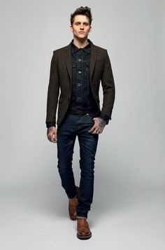 jeans with a blazer mens | Style inspiration | Pinterest | Blazers